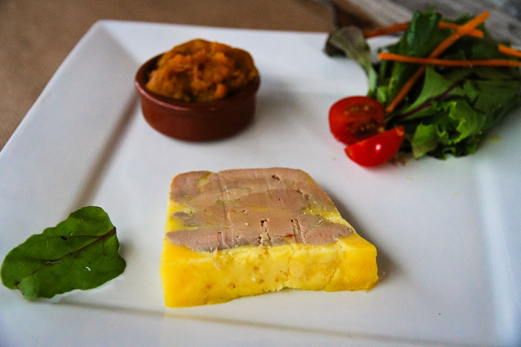 Foie gras et chutney au potiron Orange Verte